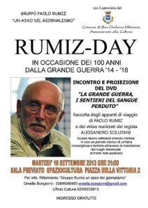 Il Rumiz Day a San Giuliano-la locandina