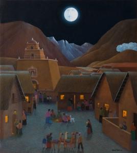 Notte_nel_villaggio di Mario Tàpia
