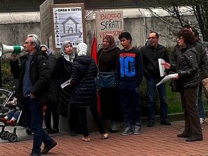 Presidio anti-sfratti a San Giuliano Milanese