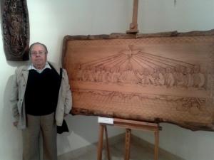 Vincenzo de Maglie accanto all'Ultima Cena