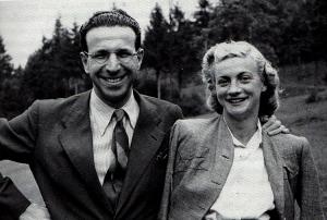 Ugo e Lucilla in montagna nel 1943