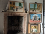 Museo della Civiltà Contadina, il camino con i disegni